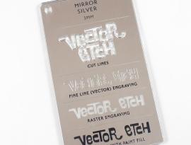 Silver Mirror Acrylic 3mm Sample