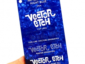 Night Blue Pattern Foil