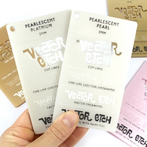 Platinum and Pearl Pearlescent Acrylic Samples
