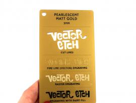 Matt Gold Pearlescent Acrylic