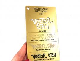 Matt Gold  Pearlescent Acrylic Sample