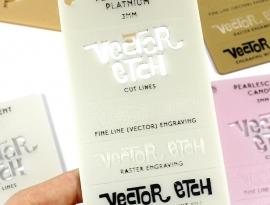 Platinum Pearlescent Acrylic Sample