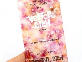 Frangipani Petals Acrylic