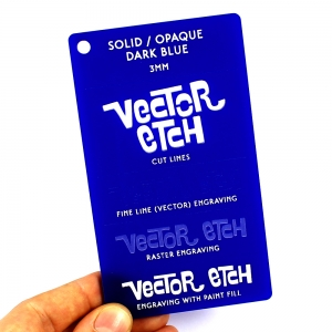 Dark Blue Solid Acrylic