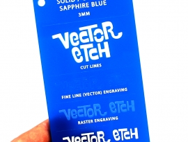 Sapphire Blue Solid Acrylic