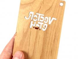 Alder Solid Wood Sample Back