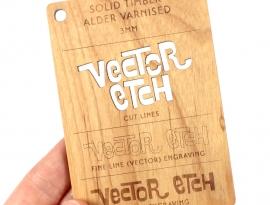 Alder Solid Wood Sample Front