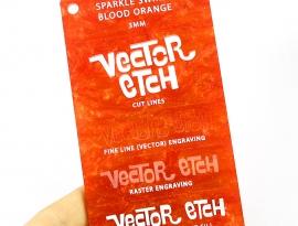 Blood Orange Sparkle Swirls Sample