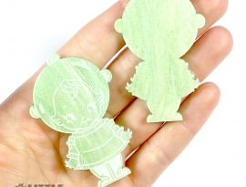 Apple Green Sparkle Swirls Sample Front