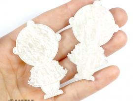 Ivory Sparkle Swirls Sample Front
