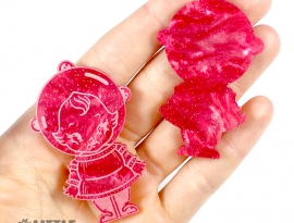 Rose Red Sparkle Swirls Sample Front