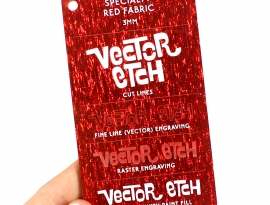 Red Fabric Specialty Acrylic Sample