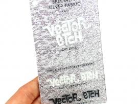 Silver Fabric Specialty Acrylic Sample