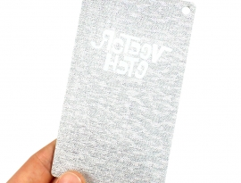 Silver Fabric Specialty Acrylic Sample Back