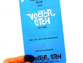Blue Translucent Acrylic
