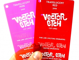 Translucent Acrylic Samples