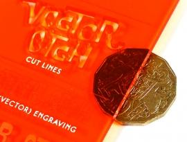 Orange Translucent Acrylic