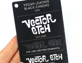 Black Vegan Leather