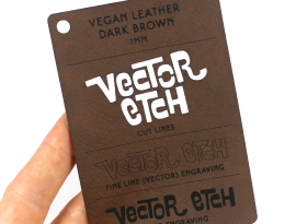 Dark Brown Vegan Leather