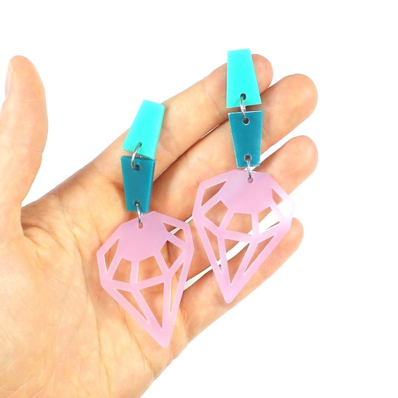 Mermaid Party Earrings made from template shapes