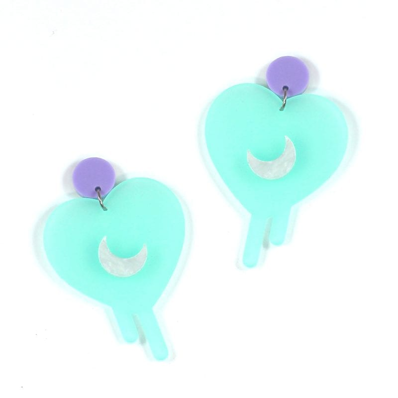 Icy Magic Earrings made from template shapes
