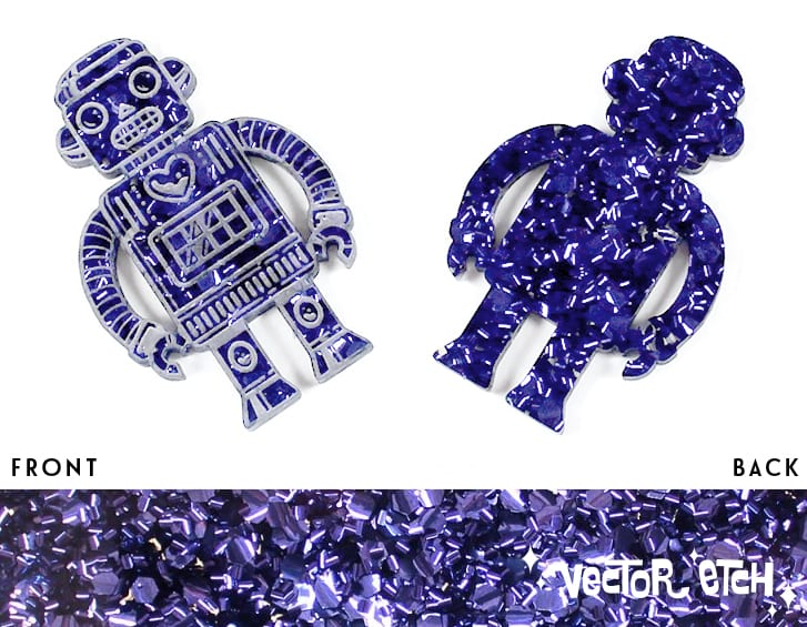 Ultra Violet Chunky Glitter acrylic