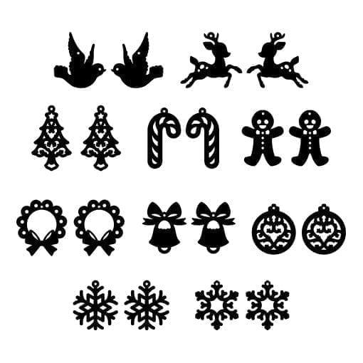 Christmas Shapes.Christmas Shapes Mixed